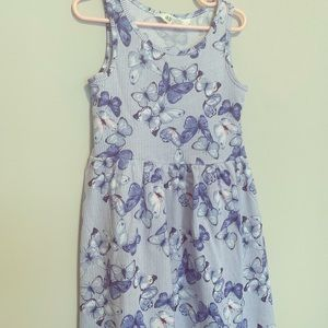 Butterfly navy blue dress